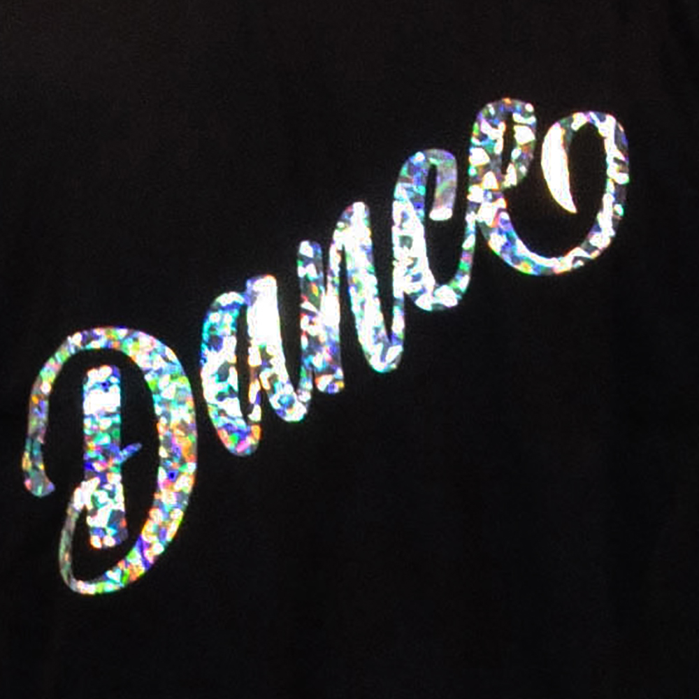 Dance – Holographic- Black Round Neck T-Shirt